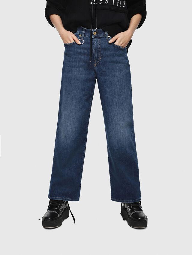 Diesel - Widee JoggJeans 080AR, Medium blue - Jeans - Image 1
