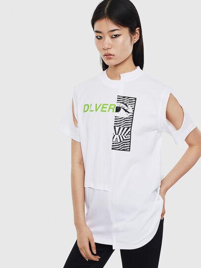 Diesel - T-GOMEZ, White - T-Shirts - Image 1