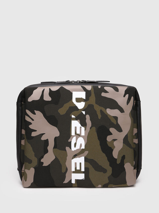 Diesel - F-SUBCAMOU MONO, Green Camouflage - Backpacks - Image 1