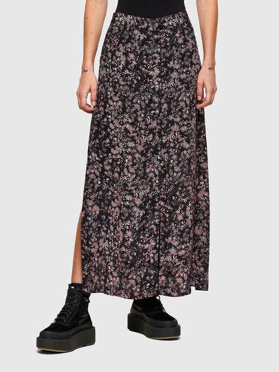 Diesel - O-PALMS, Black/Pink - Skirts - Image 1