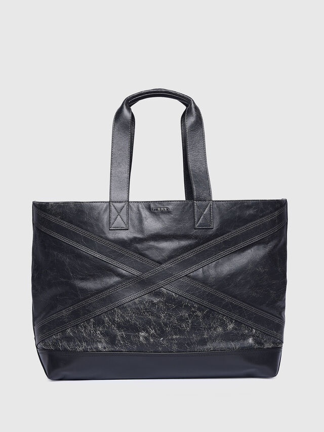 Diesel - L-BLAID RANNER SHOPP, Black Leather - Shopping and Shoulder Bags - Image 1