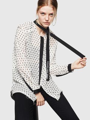 C-SAKURA-B, White/Black - Shirts