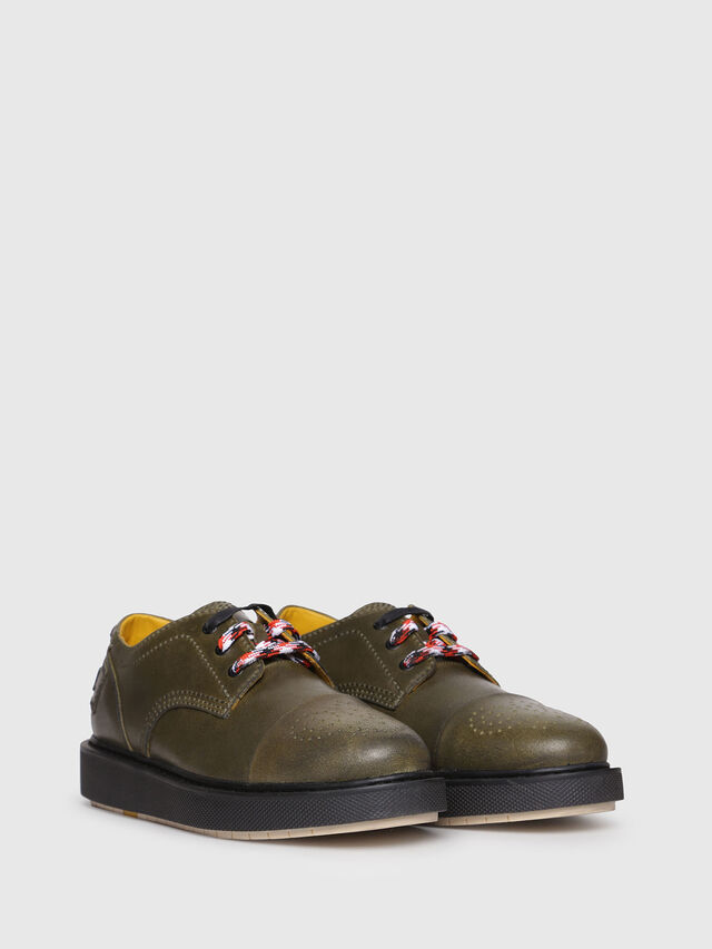 Diesel - D-CAGE DB CT, Olive Green - Lace Ups and Mocassins - Image 2