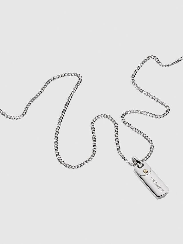 Diesel - DX1116, Silver - Necklaces - Image 2