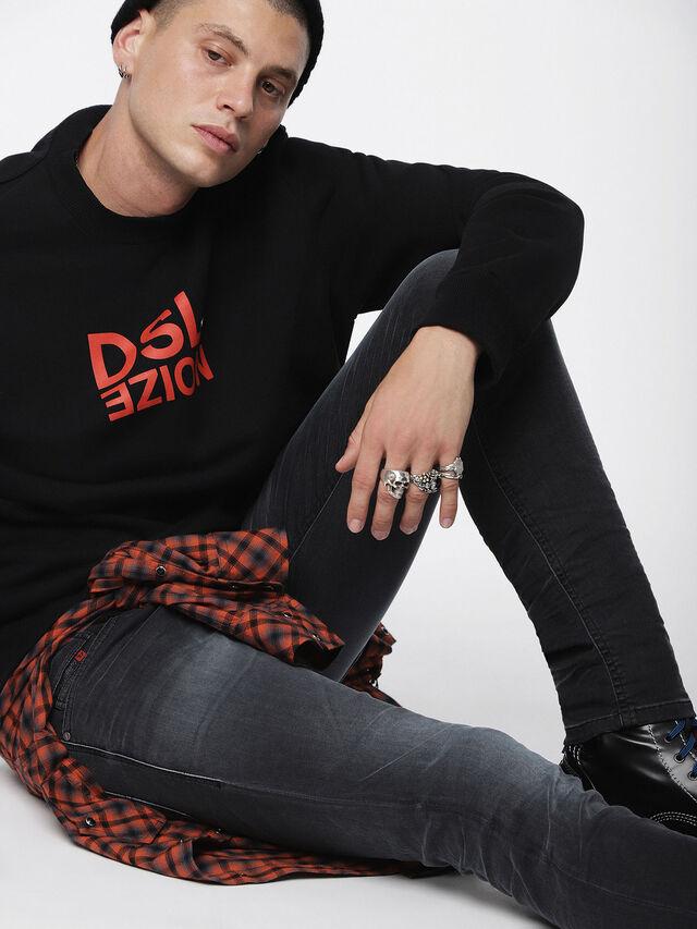 Diesel - Thommer JoggJeans 084XJ, Black/Dark grey - Jeans - Image 3
