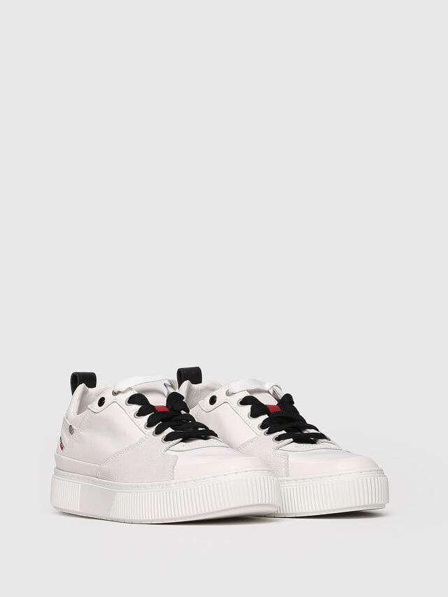 Diesel - S-DANNY LC W, White - Sneakers - Image 3