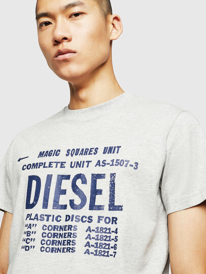 Diesel - T-DIEGO-B6, Light Grey - T-Shirts - Image 3