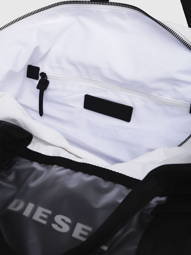 Diesel - M-CAGE DUFFLE M, White/Black - Travel Bags - Image 3