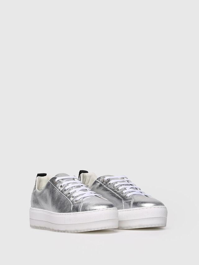Diesel - S-LENGLAS LOW LACE, Silver - Sneakers - Image 3