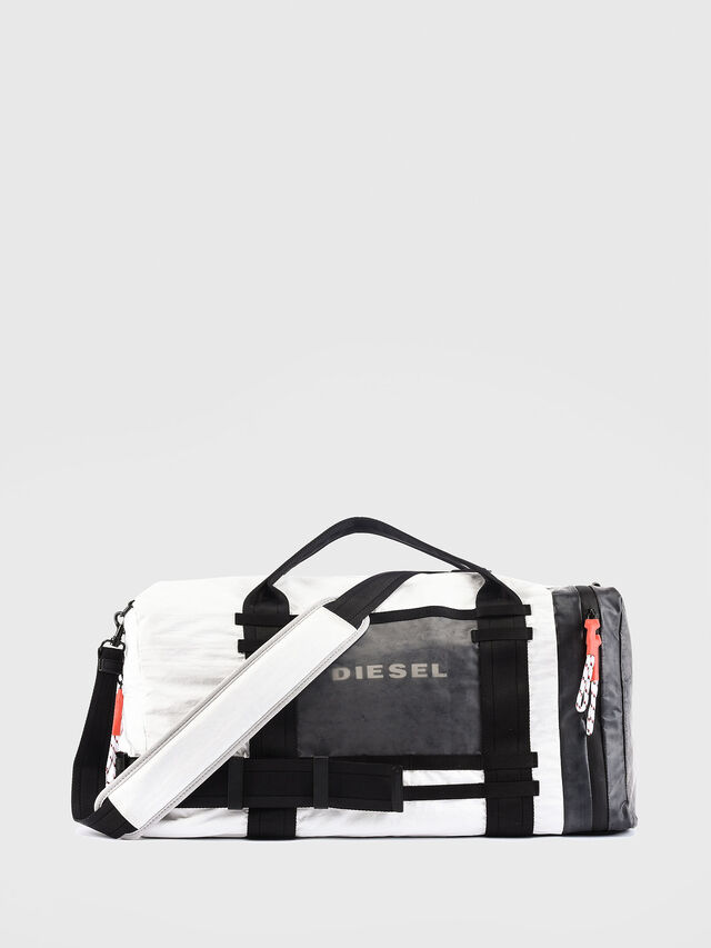 Diesel - M-CAGE DUFFLE M, White/Black - Travel Bags - Image 1