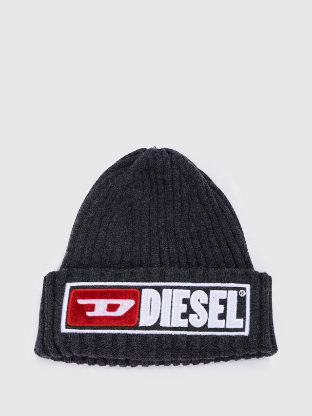 Diesel - K-CODER-B, Black - Caps, Hats and Gloves - Image 1