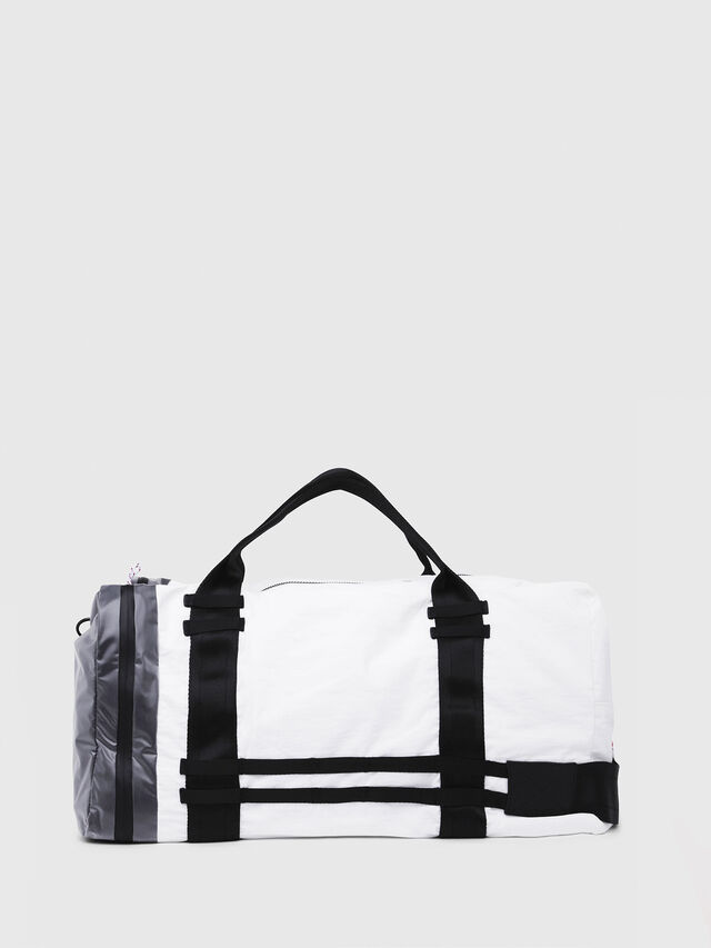 Diesel - M-CAGE DUFFLE M, White/Black - Travel Bags - Image 2