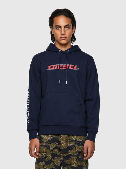 Diesel - S-GIRK-HOOD-K10, Dark Blue - Sweaters - Image 1