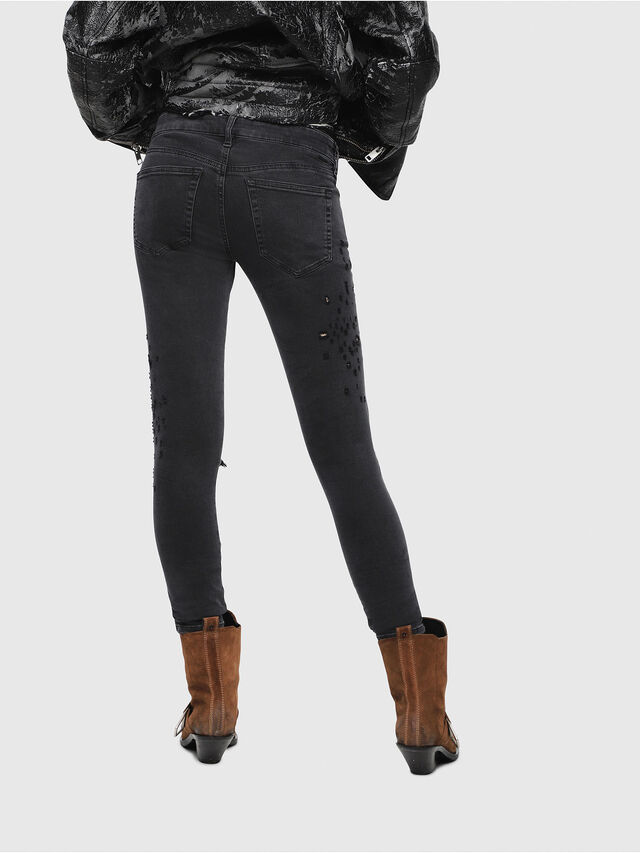 Diesel - Slandy Low 085AW, Black/Dark grey - Jeans - Image 2