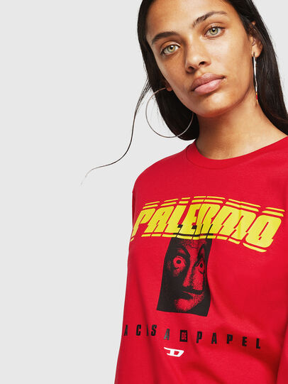 Diesel - LCP-T-JUST-LS-PALERM, Red - T-Shirts - Image 5