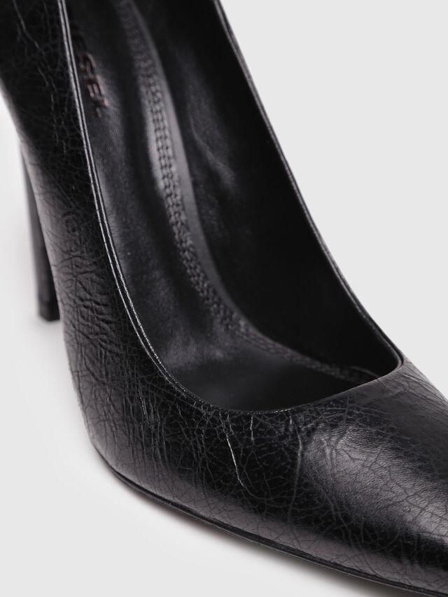 Diesel - D-SLANTY HP, Black Leather - Heels - Image 4
