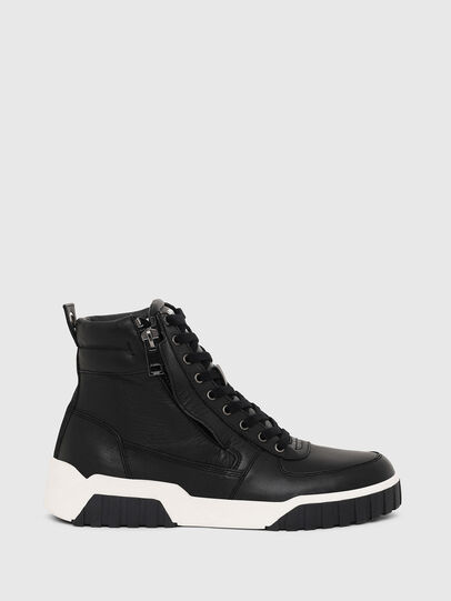 Diesel - S-RUA MID, Black - Sneakers - Image 1