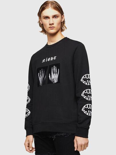Diesel - SNEILB-X1, Black - Sweaters - Image 1