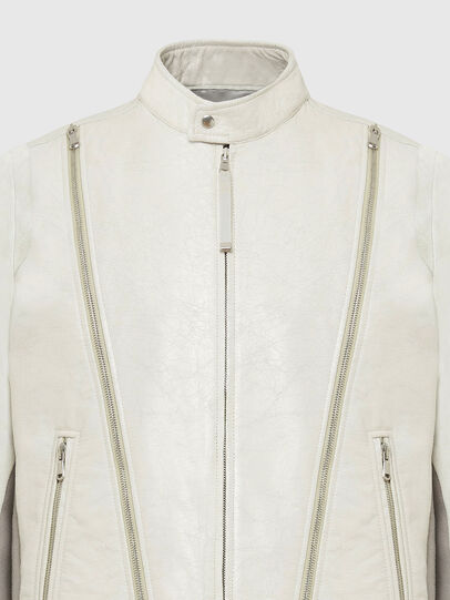 Diesel - L-CROME, White - Leather jackets - Image 4