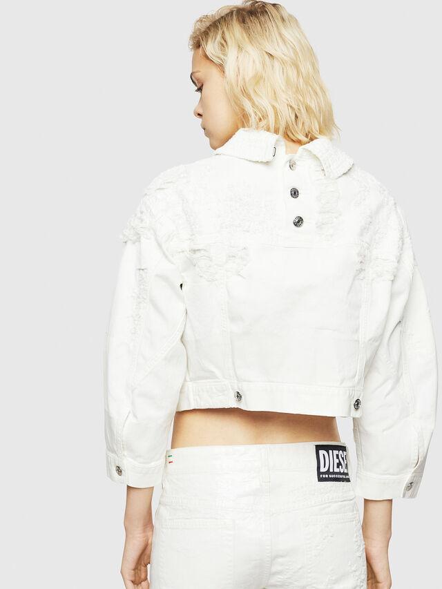 Diesel - DE-CATE, White - Denim Jackets - Image 2