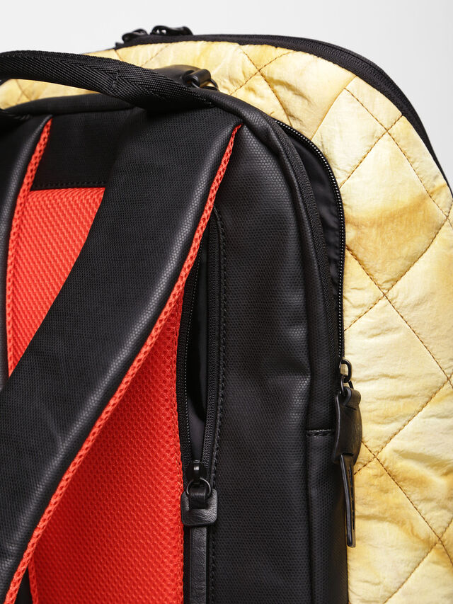 Diesel - F-HEYODA BACK, Yellow - Backpacks - Image 5