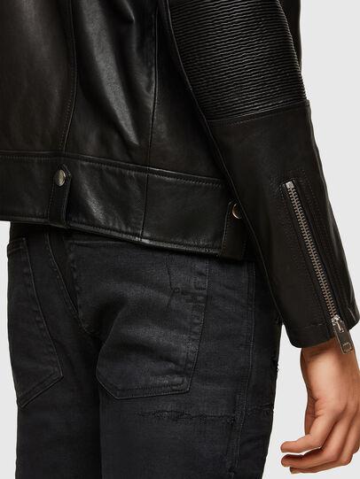 Diesel - L-STARKVILLE, Black - Leather jackets - Image 4