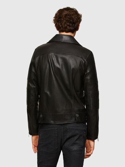 Diesel - L-STARKVILLE, Black - Leather jackets - Image 2