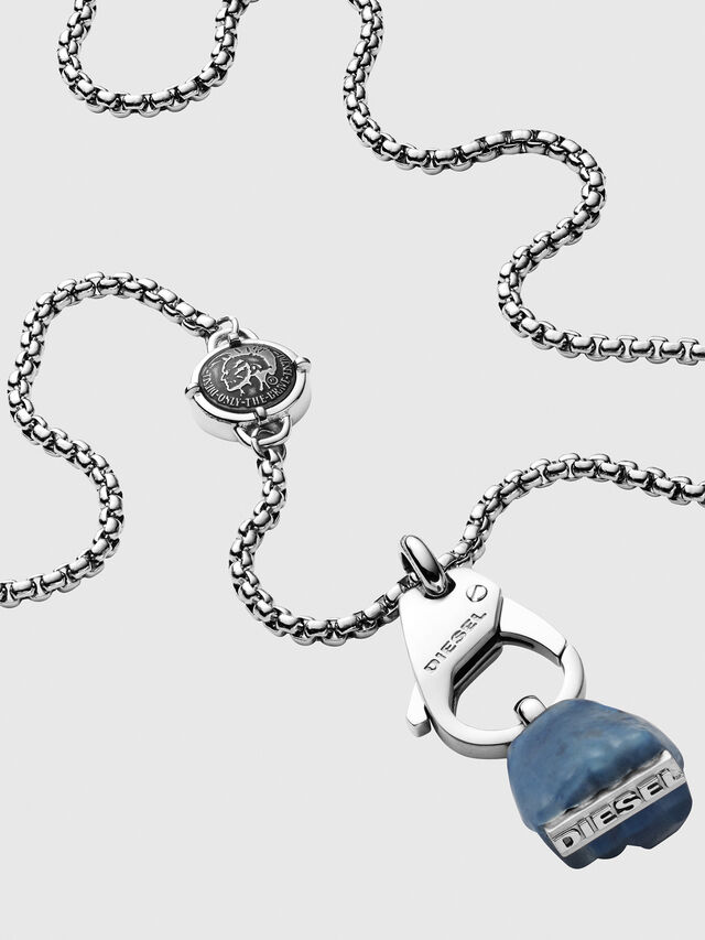 Diesel - DX1178, Silver - Necklaces - Image 2