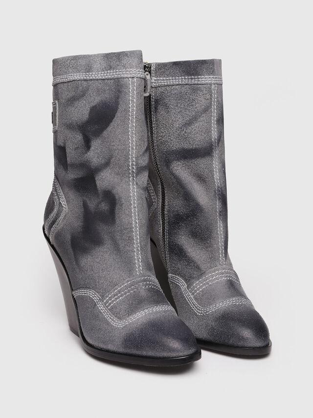 Diesel - D-FLAMINGO B, Grey Melange - Ankle Boots - Image 2