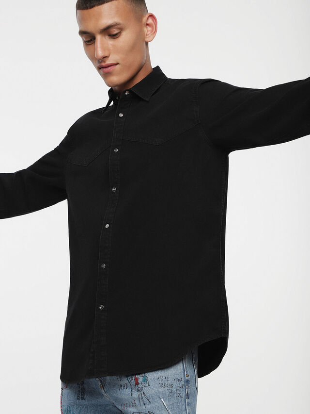 Diesel - D-PLANET, Black Jeans - Denim Shirts - Image 1