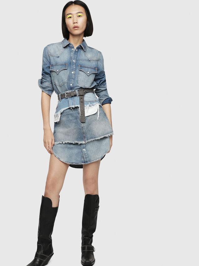 Diesel - BELT HIGH WAIST, Blue Jeans - Skirts - Image 3