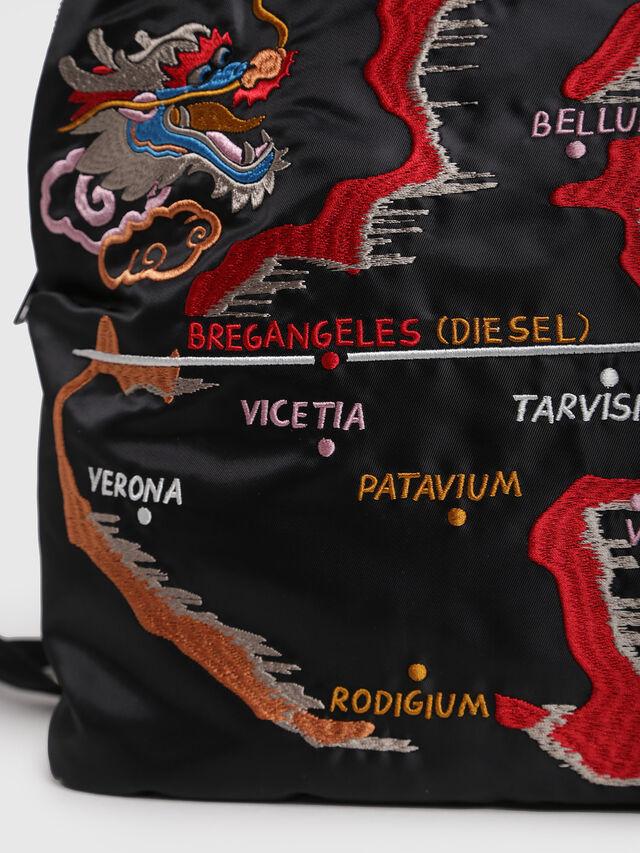Diesel - M-TOKYO BACK TEKNO, Black/Red - Backpacks - Image 4