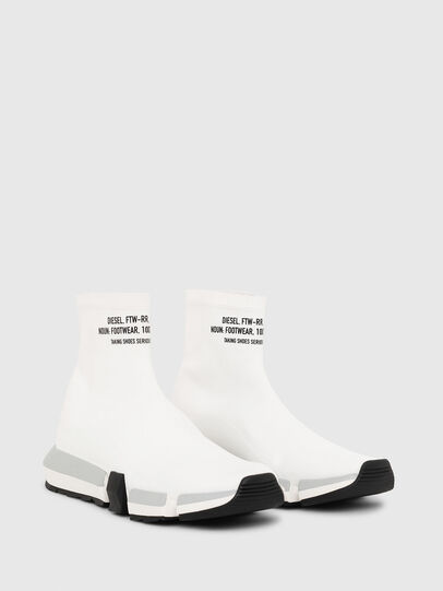 Diesel - H-PADOLA HIGH SOCK, White - Sneakers - Image 2