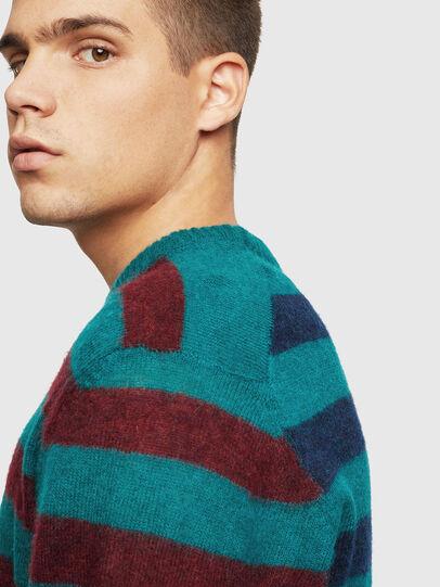 Diesel - K-BOH, Blue/Red - Knitwear - Image 4
