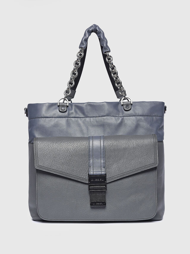 Diesel - MISS-MATCH SHOPPER, Grey - Shopping and Shoulder Bags - Image 1