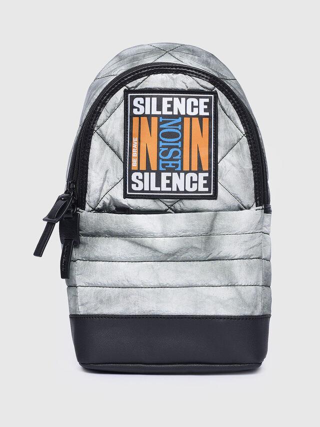 Diesel - F-HEYODA MONO, Light Grey - Backpacks - Image 1