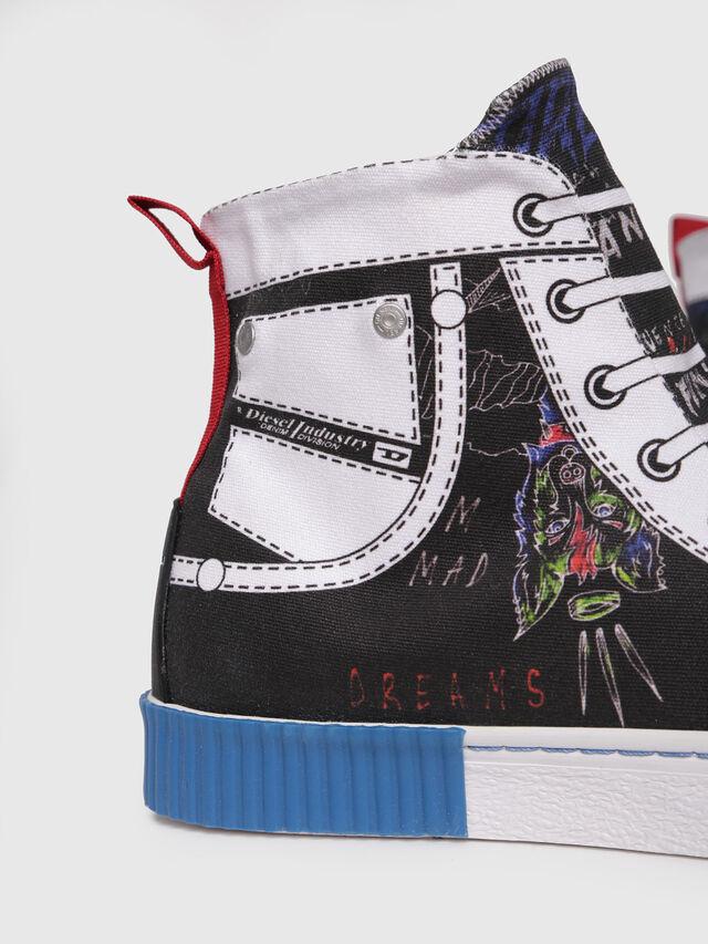 Diesel - S-DIESEL IMAGINEE MID, White/Black - Sneakers - Image 4