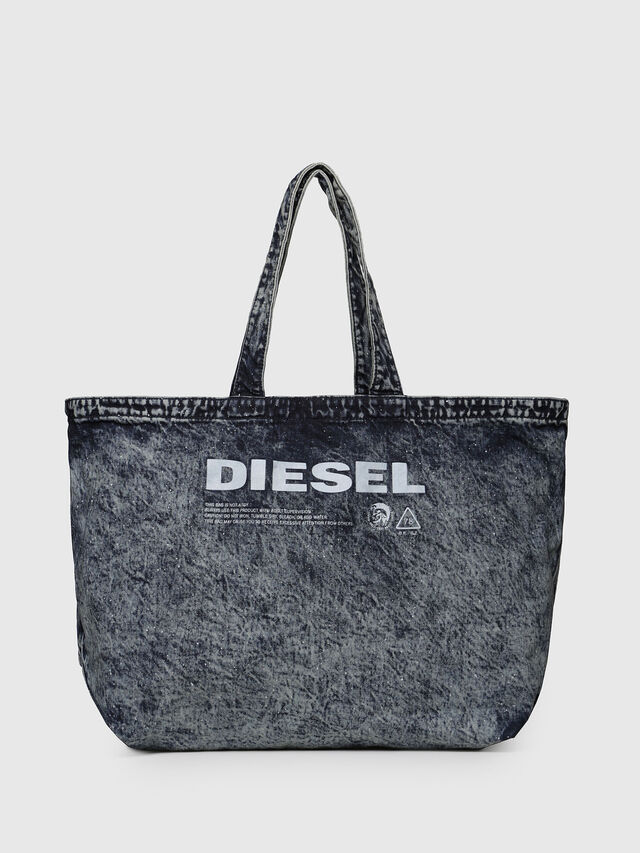 Diesel - D-THISBAG SHOPPER L, Grey Jeans - Shopping and Shoulder Bags - Image 1