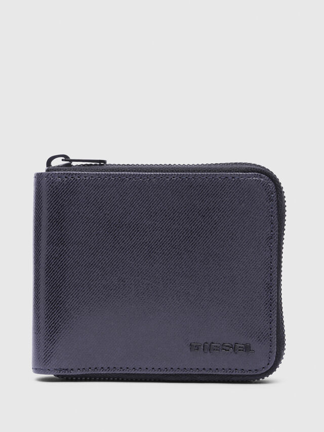 Diesel - ZIPPY HIRESH S WITH, Indigo - Zip-Round Wallets - Image 1