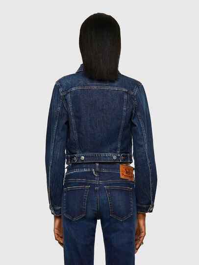 Diesel - DE-BLONDY, Dark Blue - Denim Jackets - Image 2