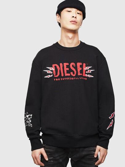 Diesel - CL-SNOR-LITMA, Black - Sweaters - Image 1