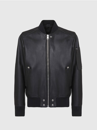Diesel - L-JOSEPH, Black - Leather jackets - Image 1
