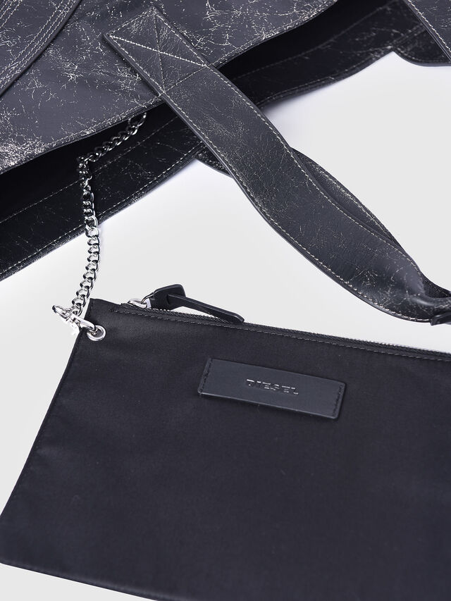 Diesel - L-BLAID RANNER SHOPP, Black Leather - Shopping and Shoulder Bags - Image 3
