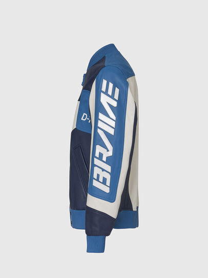 Diesel - L-MAY, Blue/White - Leather jackets - Image 3