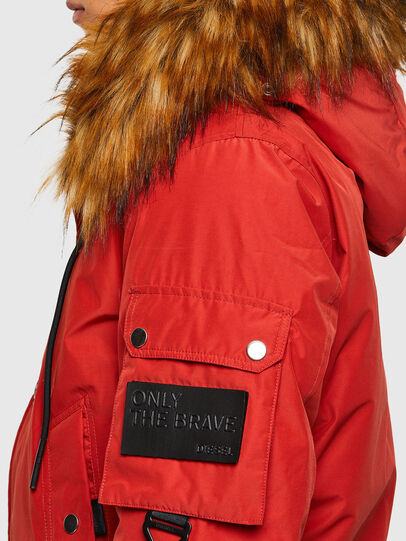Diesel - W-JAME, Red - Winter Jackets - Image 4