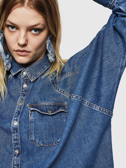 Diesel - DE-NOVA, Medium blue - Denim Shirts - Image 6