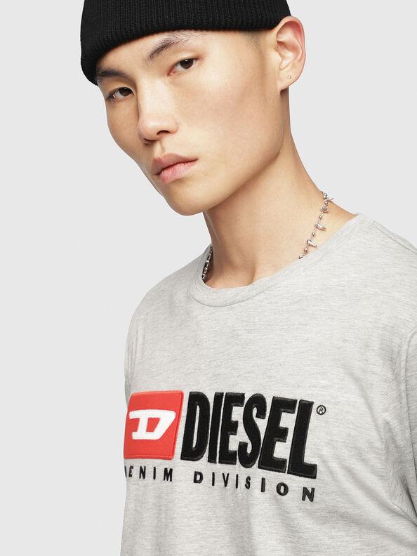 T-JUST-LS-DIVISION, Light Grey - T-Shirts