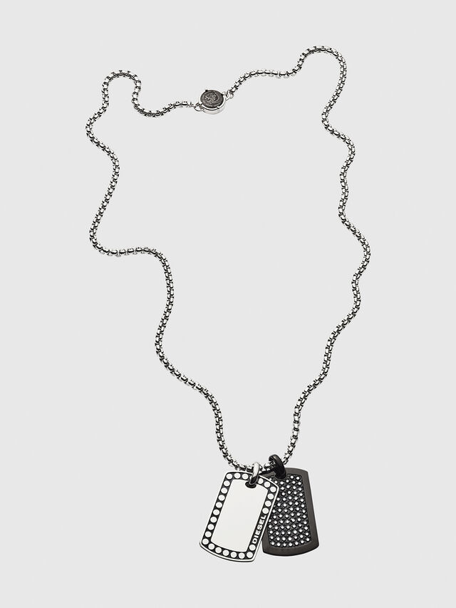 Diesel - DX1169, Silver - Necklaces - Image 1