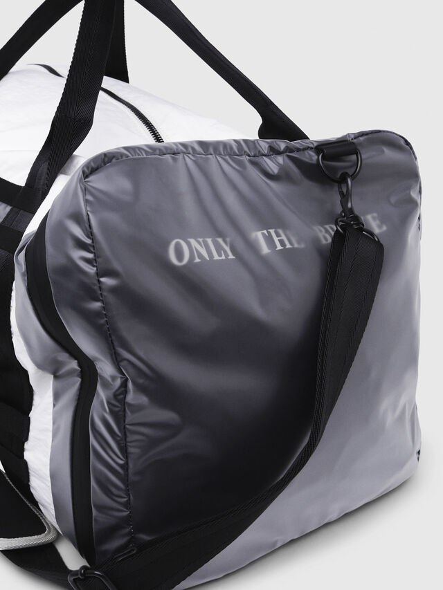 Diesel - M-CAGE DUFFLE M, White/Black - Travel Bags - Image 5