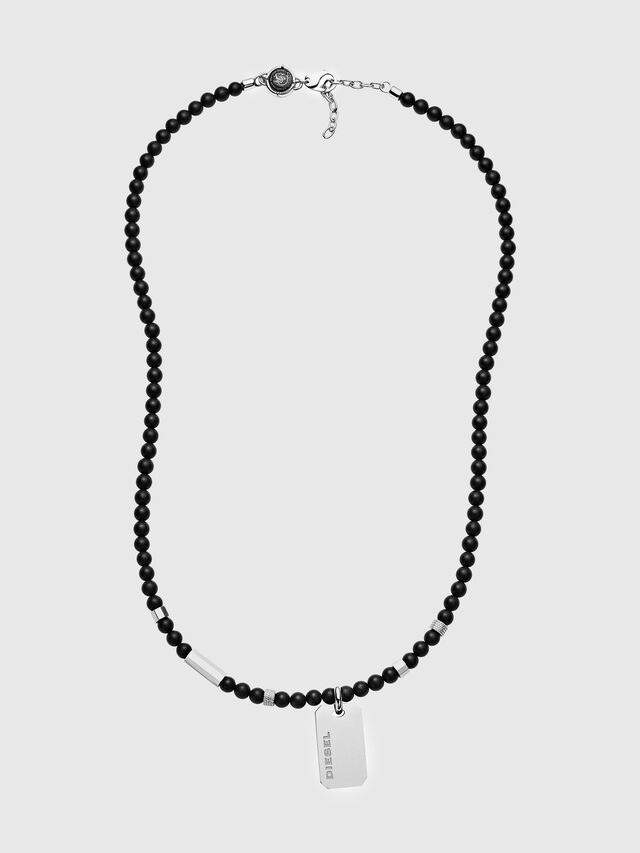 Diesel - DX1157, Black/Silver - Necklaces - Image 1